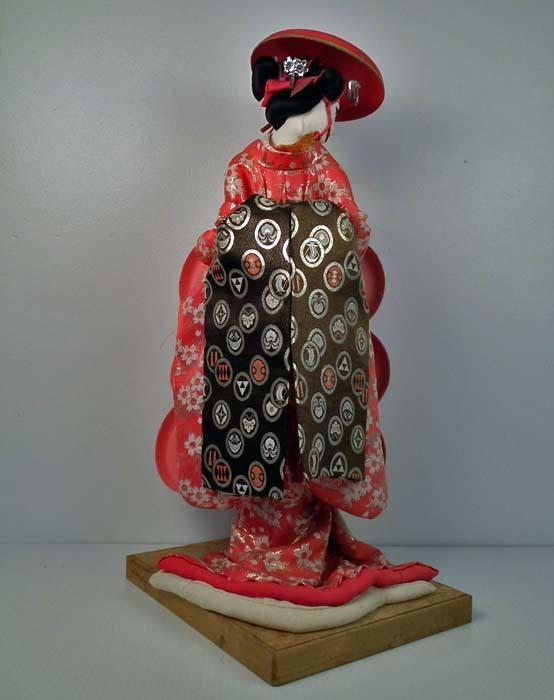 Huge old Japanese Geisha Courtesan Doll Showa Period
