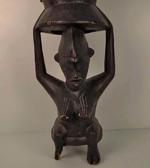 African Ceremonial Drum Pinge Senufo Ivory Coast Cote d'Ivoire