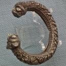 Antique 10th - 15th century A.D. Islamic Silver bracelet Bracelet with Lion's Head Terminals