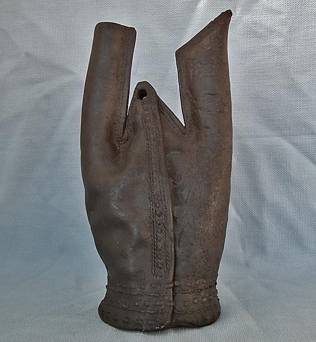 Antique Turkish Ottoman Military Leather Water Flask Matara 16th century