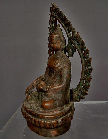 Antique Nepalese or Tibetan Bronze Figure of Buddha Nepal or Tibet 15-18th century