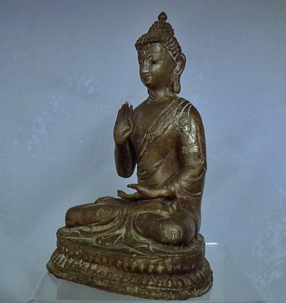 Antique 18th – 19th Century Sino Tibetan Bronze Figure Of Buddha