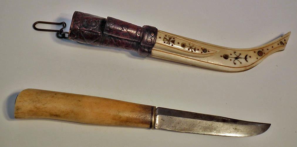 Superb Quality Antique Scrimshaw Finnish Knife Puukko
