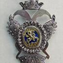 Antique 18th Century Silver Double Headed Eagle Possibly Russian Or Austrian
