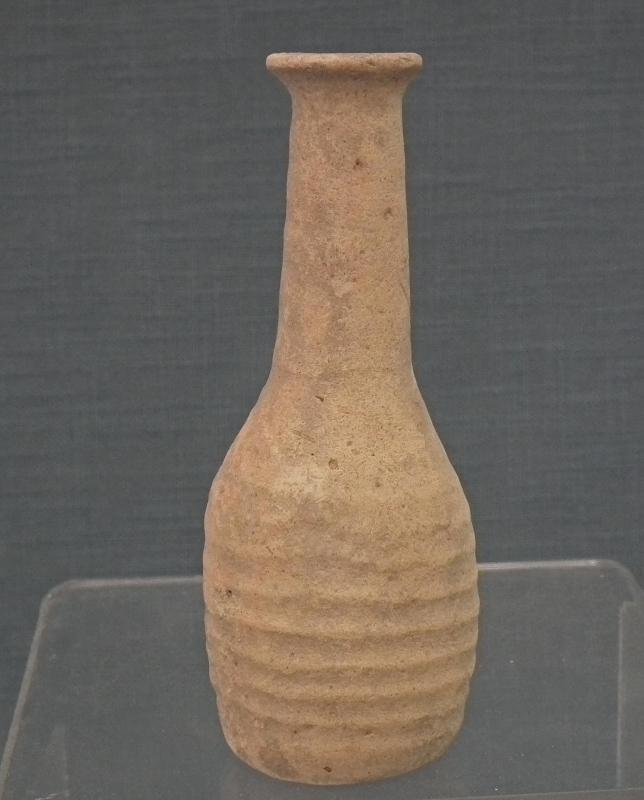 Ancient Roman Terracotta Perfume Flask Unguentarium 1st - 2nd century AD