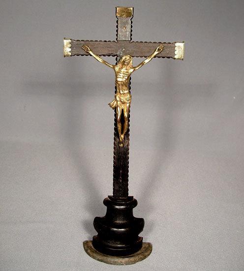 Antique 17th century Baroque Crucifix Cross