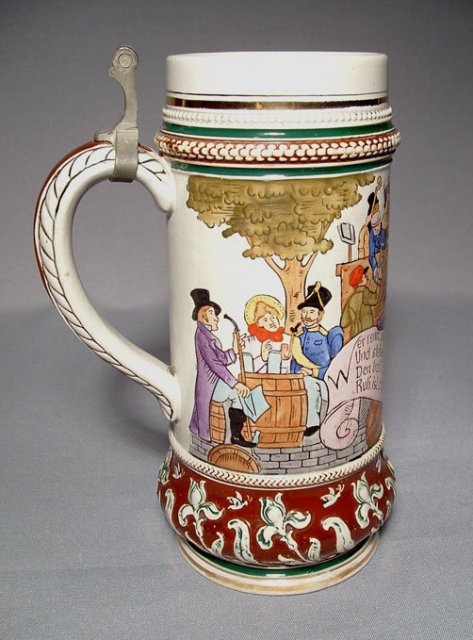 Antique Beer Stein Matthias Girmscheid, 19th century