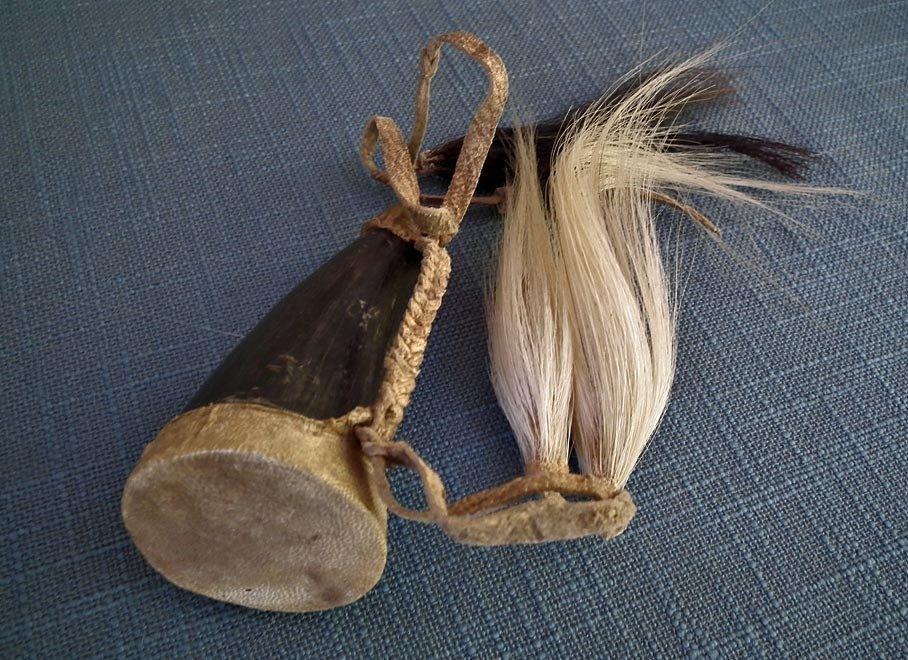 Native American Indian Buffalo Bison Gun Powder Horn