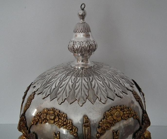 Huge Antique 19th Century Silver Plated Church Sanctuary Vigil Oil Lamp