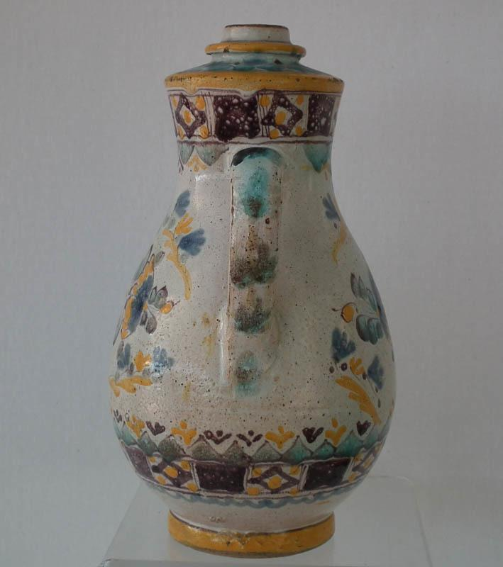 Antique 18th century Hungarian Stomfa Slovak Stupava German Stampfen Faience Fayence Jug