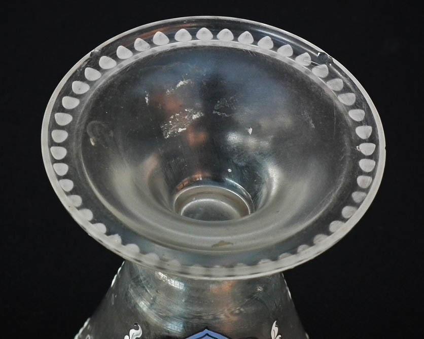 Antique Armorial Glass Goblet Polish Noble Family Potocki Coat-Of-Arms Pilawa Poland