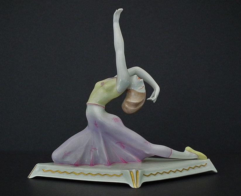 Art Deco German Porcelain Figurine Dancer Tänzerin Mänade Maenad by Karl Tutter Hutschenreuther