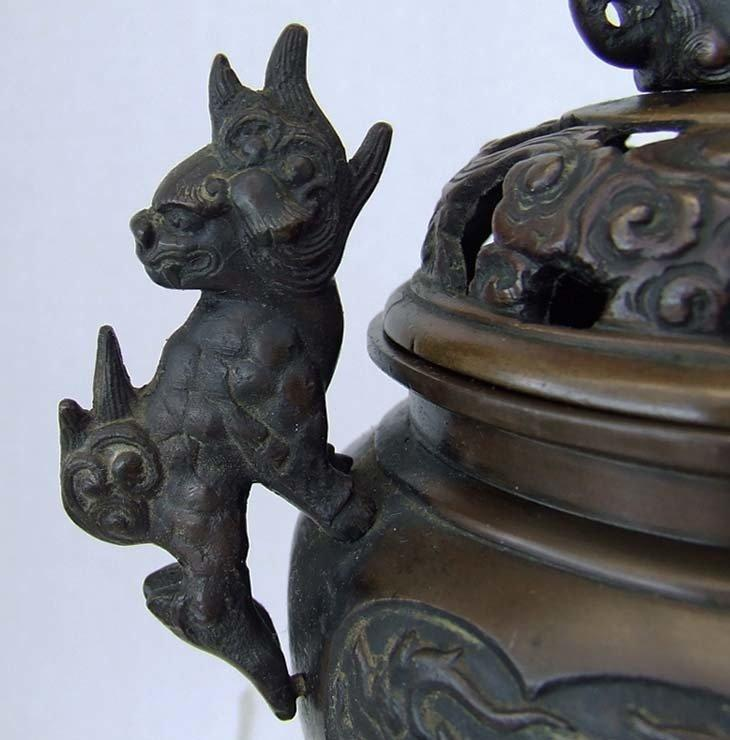 SOLD Antique Chinese Qing Dynasty 17th -19th Century Bronze Incense Burner Censer