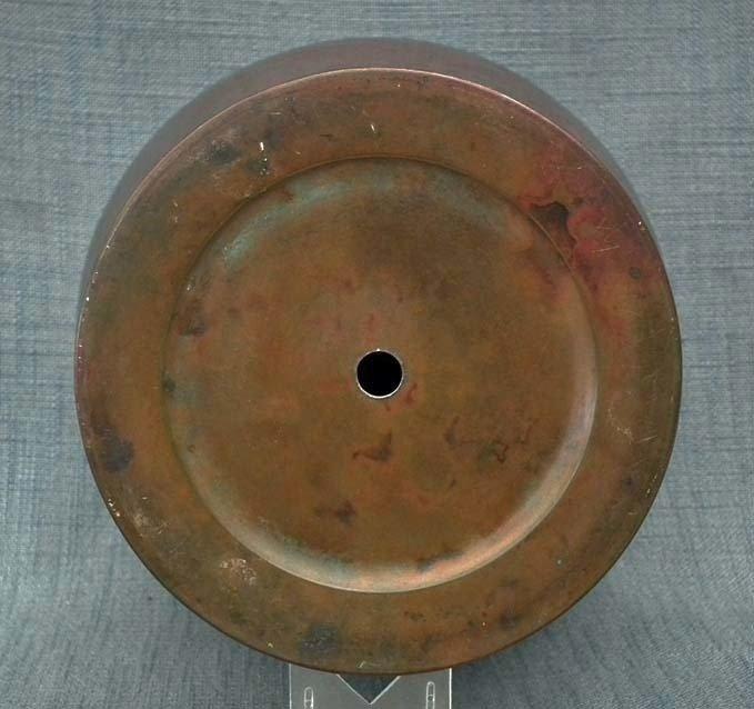 Antique Japanese Showa Period Large Bronze Vase With Murashido Patina