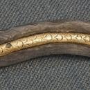 Antique Javanese Indonesian Kris Keris With Molar Fossil Hilt And Gold Naga Penganten