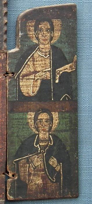 Large Authentic Antique Orthodox Icon Triptych 18th Century Greece