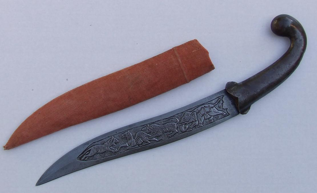 Antique Islamic Indo – Persian Dagger Khanjar 19th Century India
