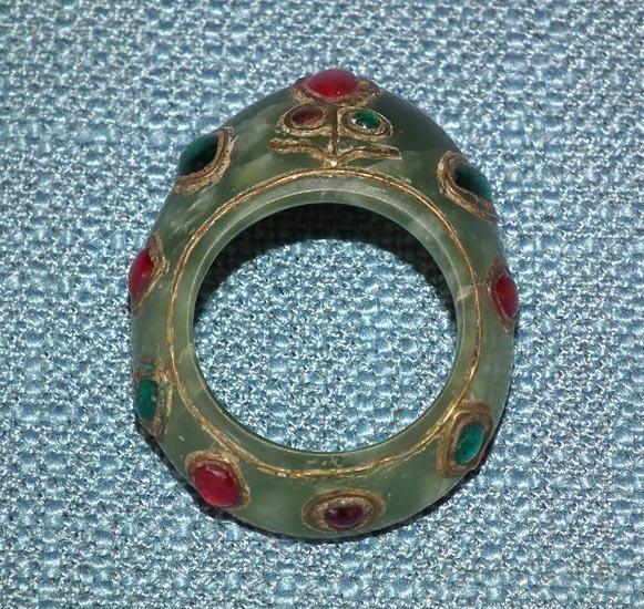 Indo Persian Jade Archer Thumb Ring, Zihgir India
