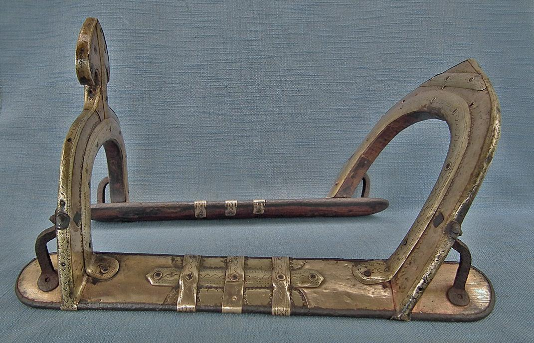 Antique 18th century Islamic Mughal Warrior's Saddle North-West India or Sindh-Pakistan