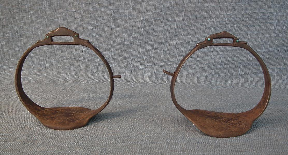 Antique 17th Century Islamic Ino Persian Safavid Saddle Stirrups