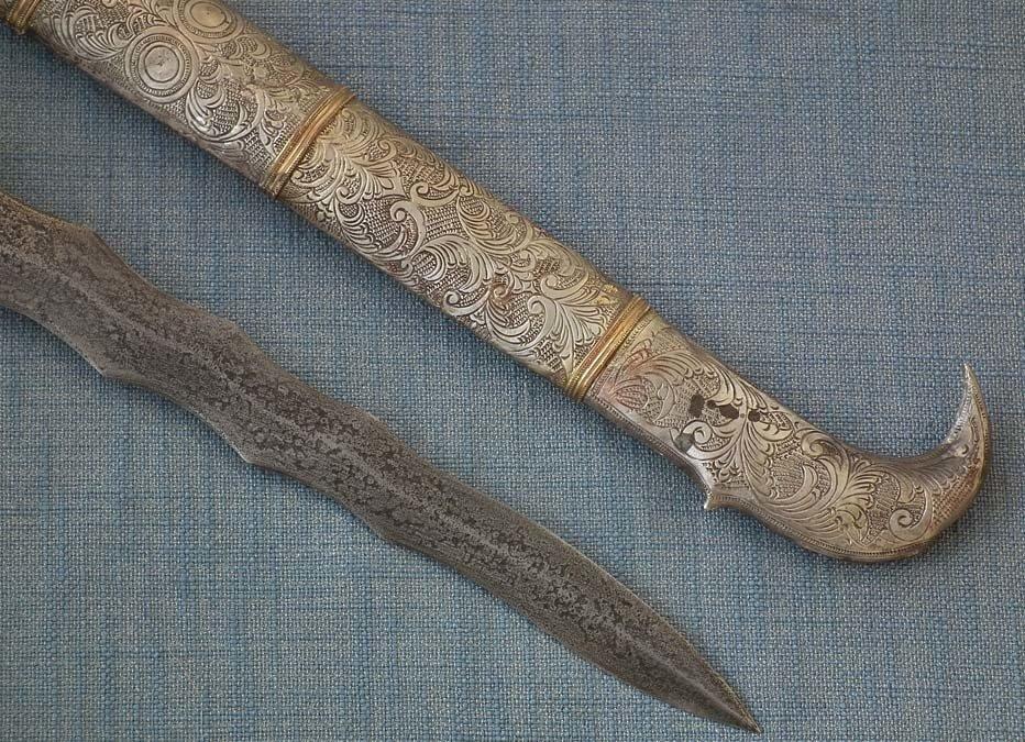Antique Philippines Muslims Moro Islamic Sword Dagger Punal -Gunong