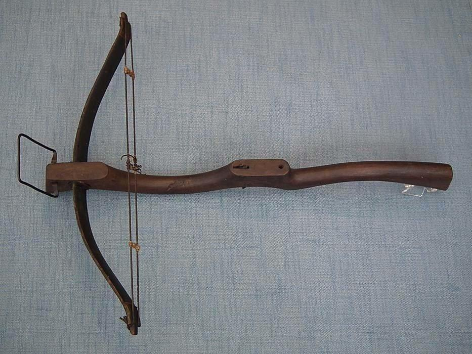 Antique 19th Century Qing Dynasty Chinese Pellet Crossbow
