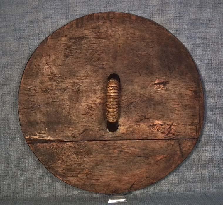Indonesian Tribal Wood Shield Ibanic Sea Dayak Headhunters