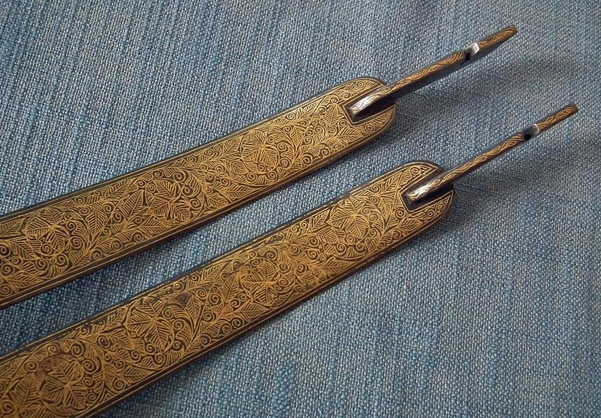 Indo Persian Islamic Gold Damascene Damascus Steel Bow India