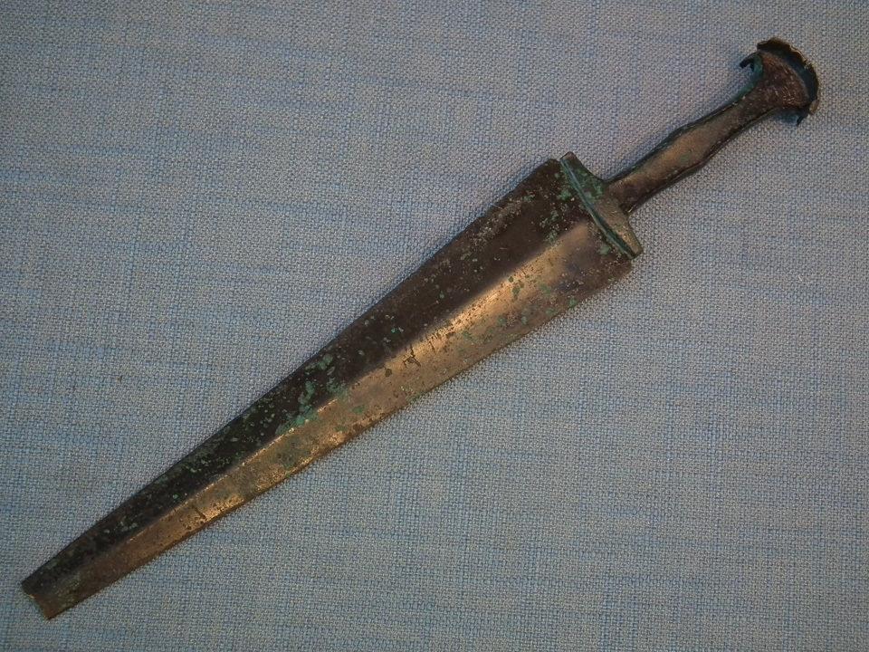 Ancient Bronze Dagger Sword 2nd millennium B.C Western Asiatic South Caspian Sea region Azerbaijan