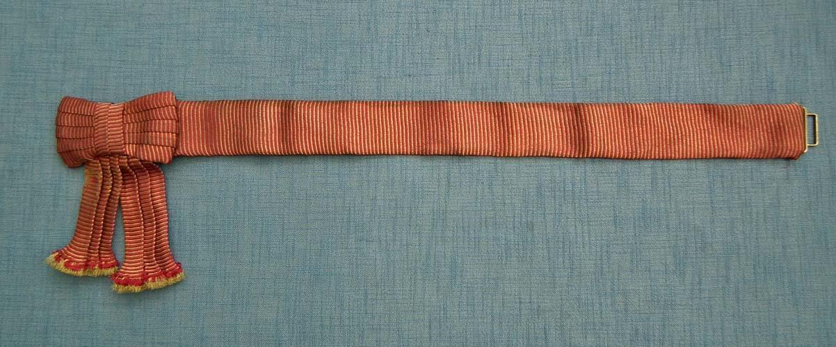 British Scots Guards Officer's Gold And Crimson Dress Waist State Sash Belt