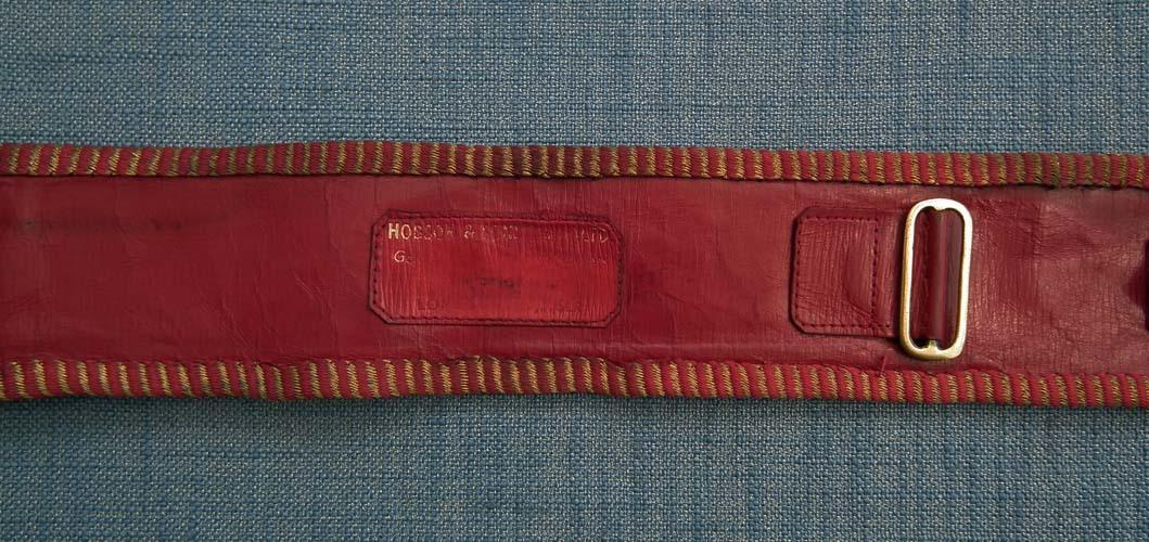 British Scots Guards Officer's Gold And Crimson Dress Waist State Sash Belt
