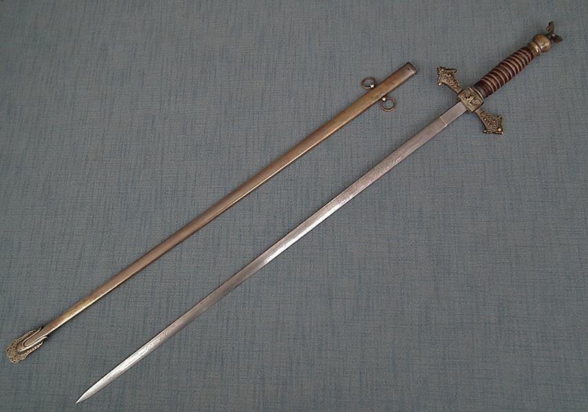 Antique American Militia Officer's Sword Perhaps Civil War Or Indian Wars