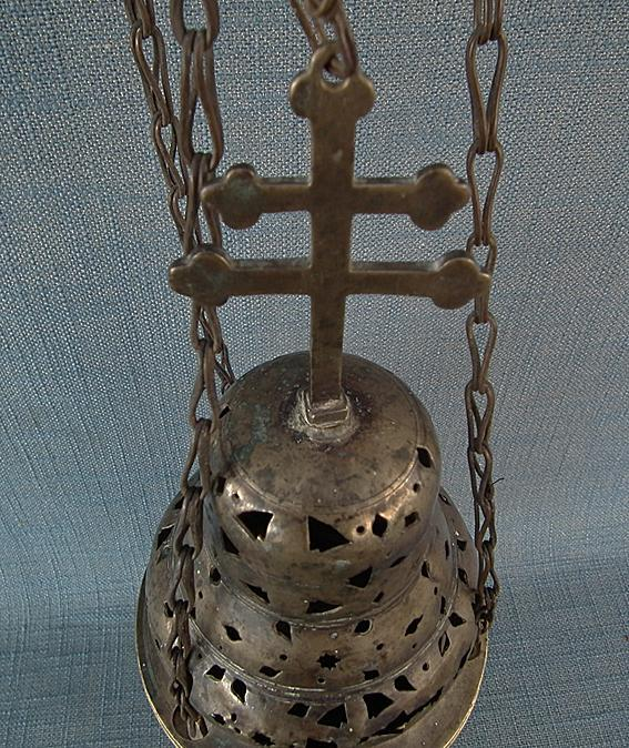 Antique Polish Baroque Bronze Church Hanging Incense Burner Censer Thurible 17th-18th century Poland