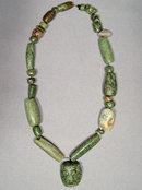 Ancient Mayan Jade Pre Columbian Necklace