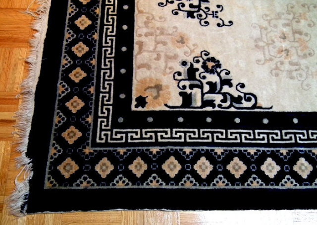 Antique Chinese Qing Dynasty Fine Ning Hsia Rug Carpet