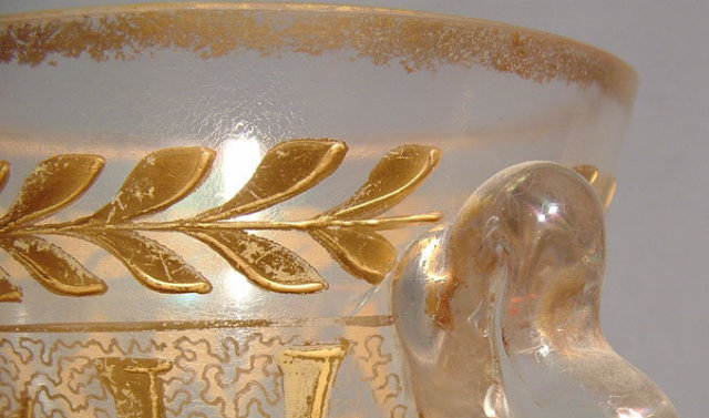 Mamluk Revival Art Glass in Islamic Style by Moser, 19th century