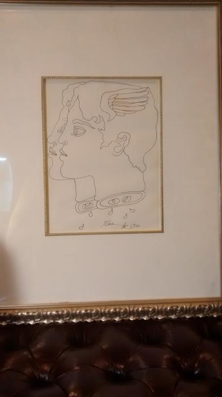 Mercury by Jean Cocteau  an Original Pen & Ink