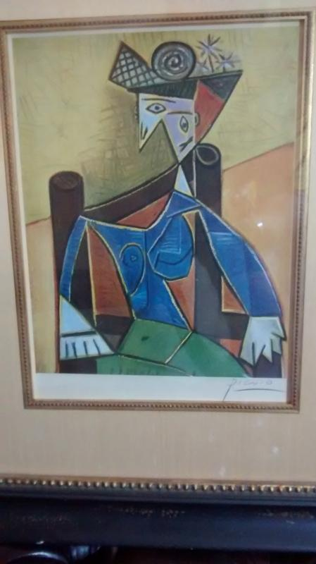 Jacqueline  Portrait hand-signed by Picasso