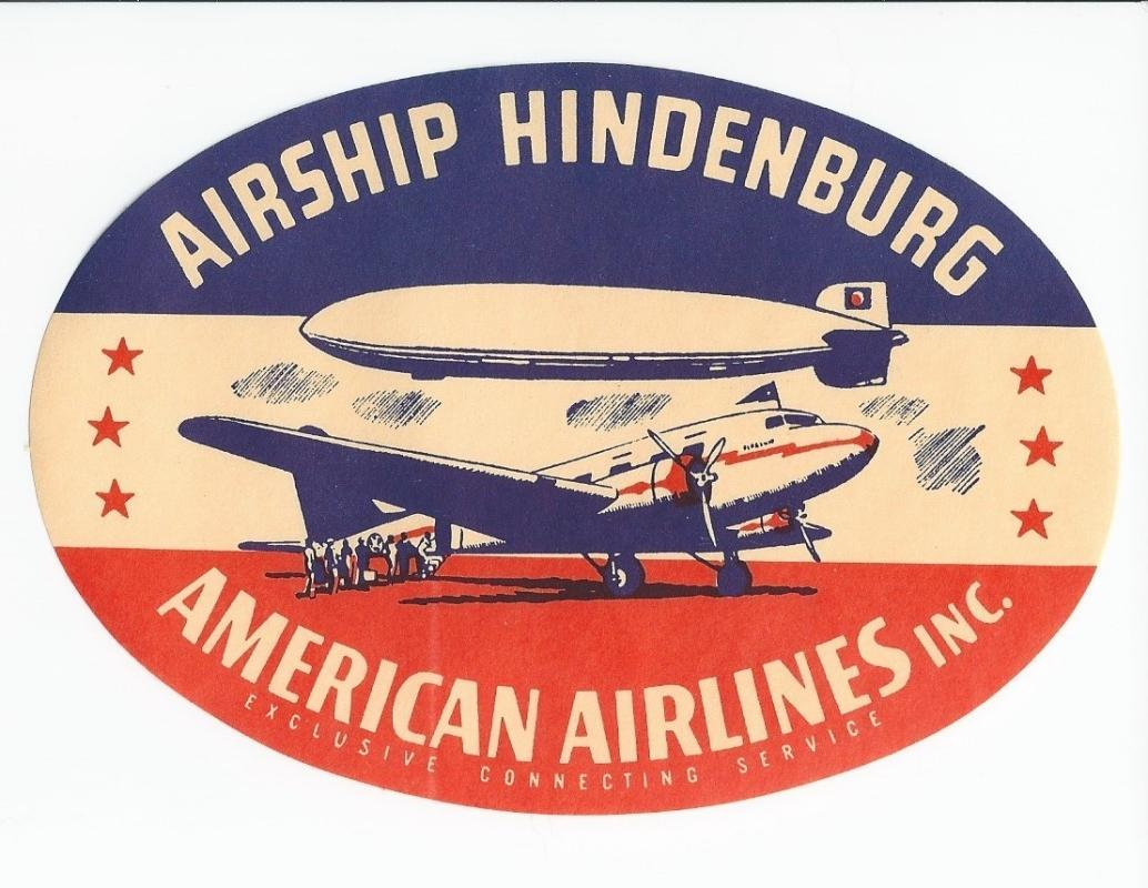 Advertising Sticker for the Airship Hindenburg