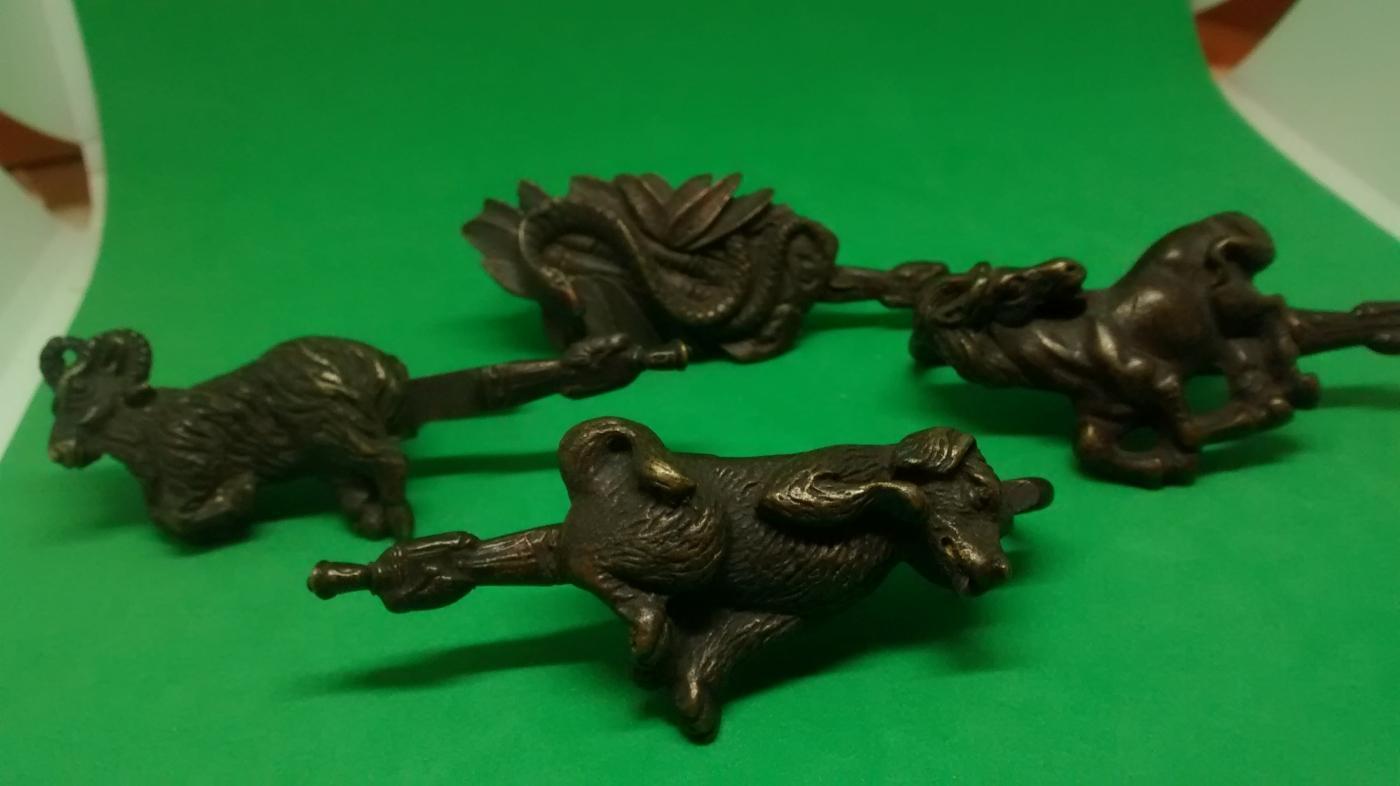 Ancient Chinese Brass Zodiac Animal Locks