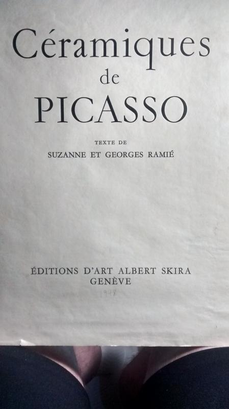 Pencil Signed Picasso Lithographs of his Ceramic Plates (Choice)