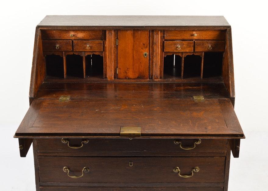 Antique Georgian Style Secretary Desk