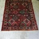 Hand Knotted Green & Red Persian Rug - 5′ × 6′4″