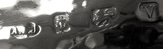 A.E.Jones Arts and Crafts Silver hammered design large Bowl, Birmingham 1920