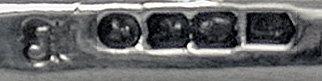 Irish Silver Slice or Crumb Scoop, Dublin 1855, John Smyth.