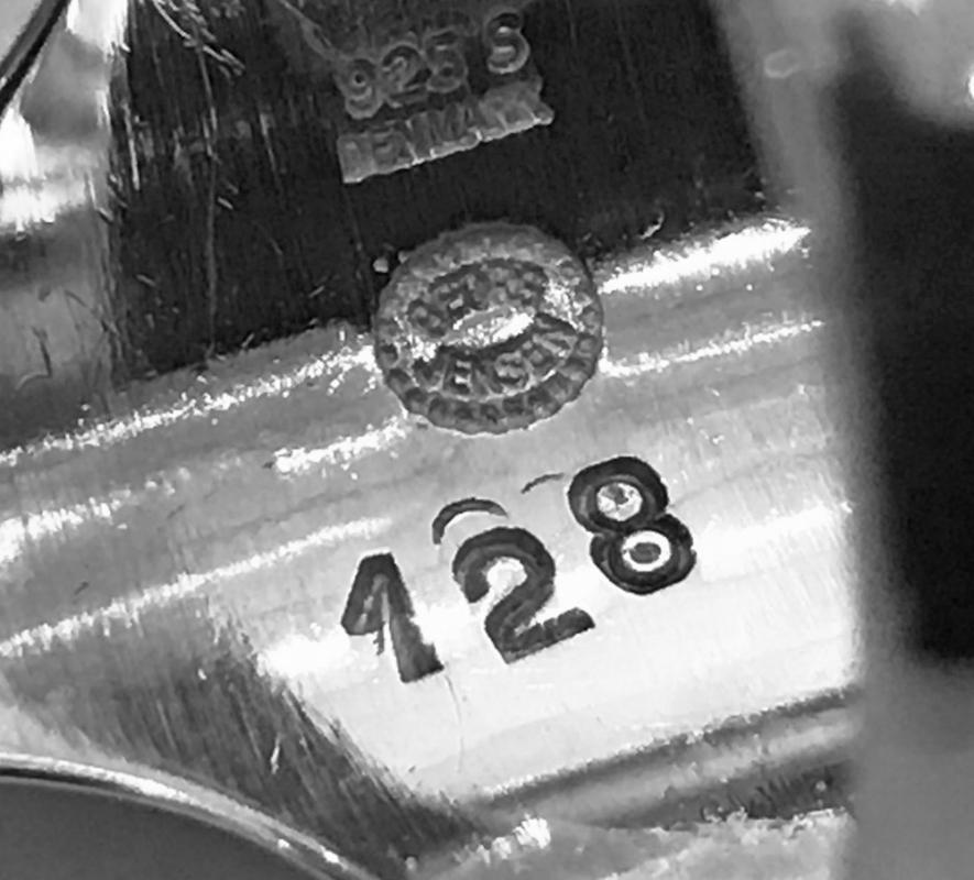 Georg Jensen sterling silver ring #128 designed Henning Koppel.