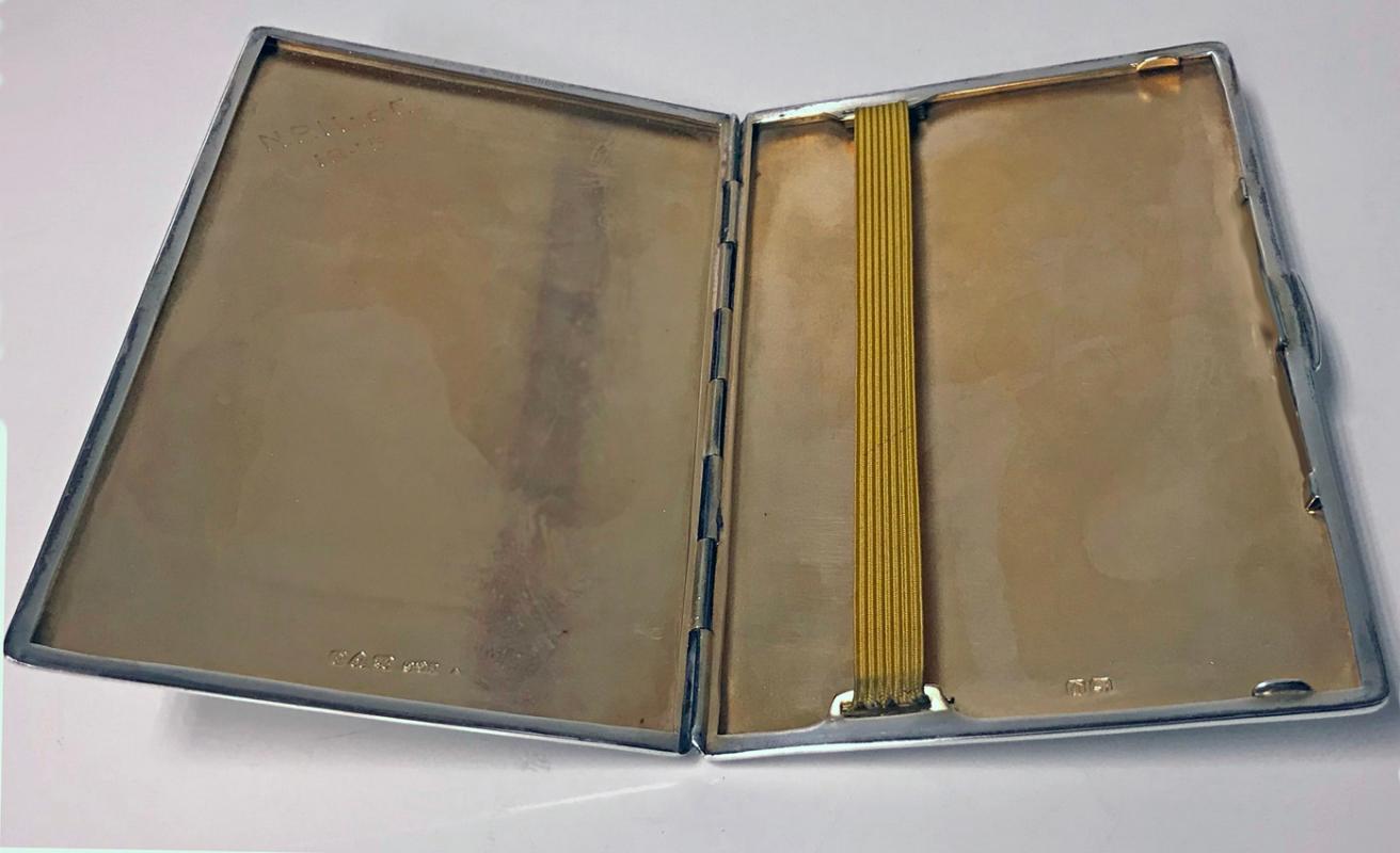 Art Deco Sterling Mappin and Webb Cigarette Case Chester 1933 E.Trevitt
