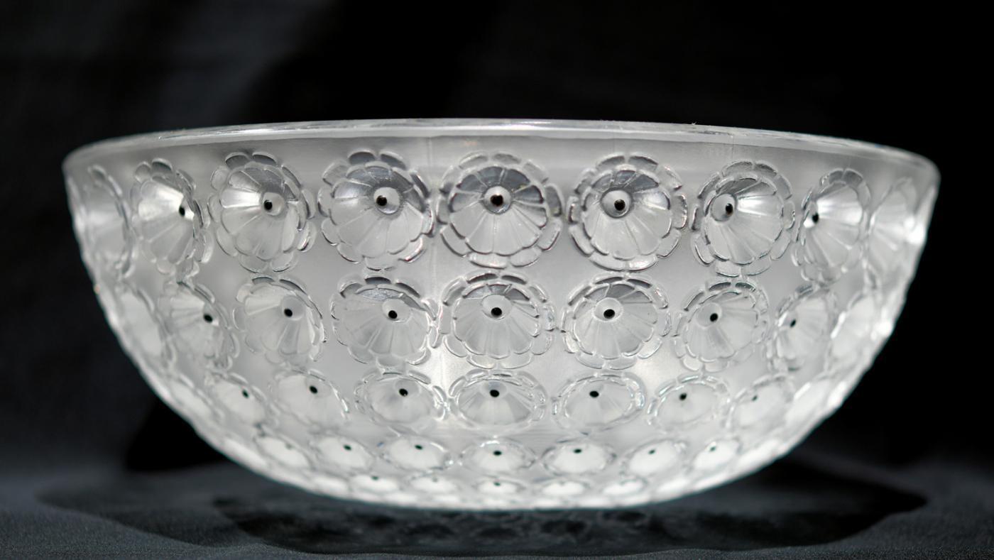 Lalique Nemours Bowl, circa 1980