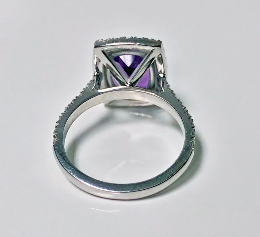 Amethyst and Diamond Gold Ring, 20th century