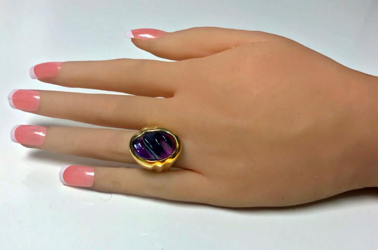 Secrett 18K Amethyst Ring, C.1970